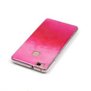 Gradient třpytivý gelový obal na Huawei P9 Lite - červený - 4