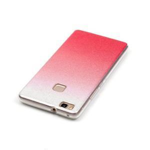 Gradient třpytivý gelový obal na Huawei P9 Lite - rose - 4