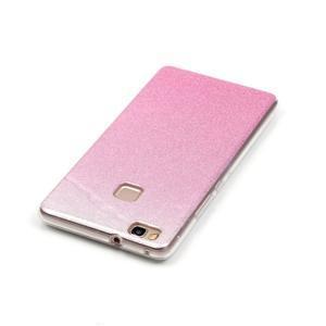 Gradient třpytivý gelový obal na Huawei P9 Lite - růžový - 4