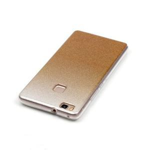 Gradient třpytivý gelový obal na Huawei P9 Lite - zlatý - 4