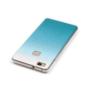 Gradient třpytivý gelový obal na Huawei P9 Lite - světlemodrý - 4