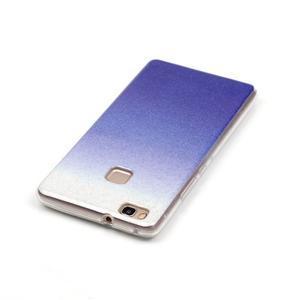 Gradient třpytivý gelový obal na Huawei P9 Lite - tmavěmodrý - 4