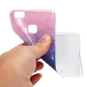 Gradient třpytivý gelový obal na Huawei P9 Lite - růžový/modrý - 4