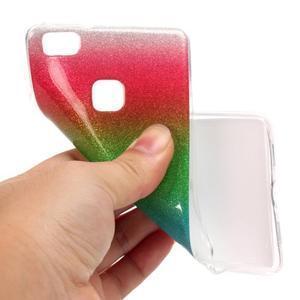 Gradient třpytivý gelový obal na Huawei P9 Lite - mix barev I - 4