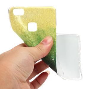 Gradient třpytivý gelový obal na Huawei P9 Lite - mix barev II - 4