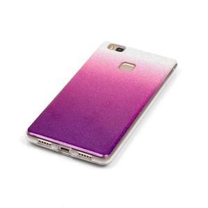 Gradient třpytivý gelový obal na Huawei P9 Lite - stříbrný/fialový - 4