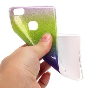 Gradient třpytivý gelový obal na Huawei P9 Lite - mix barev III - 4