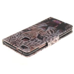 Lethy knížkové pouzdro na telefon Huawei P9 Lite - gepard - 4