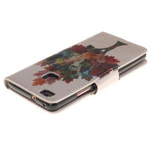 Lethy knížkové pouzdro na telefon Huawei P9 Lite - podzimní strom - 4