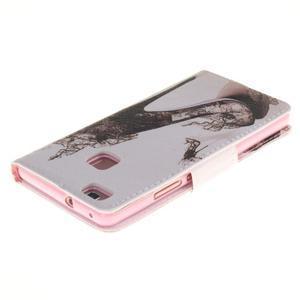 Lethy knížkové pouzdro na telefon Huawei P9 Lite - pekelný střevíček - 4