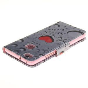 Lethy knížkové pouzdro na telefon Huawei P9 Lite - srdíčka - 4