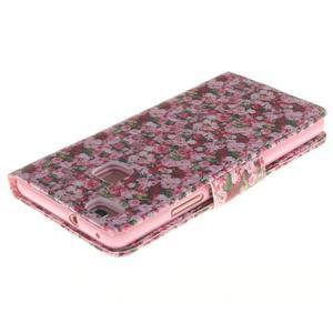 Lethy knížkové pouzdro na telefon Huawei P9 Lite - koláž růží - 4