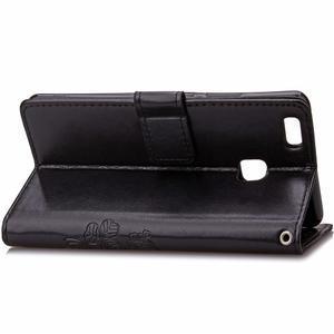 Cloverleaf peněženkové pouzdro na Huawei P9 Lite - černé - 4
