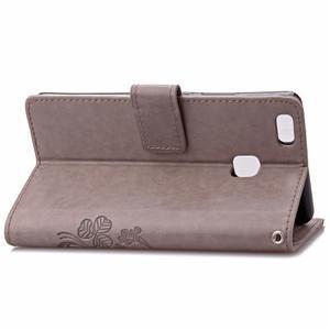 Cloverleaf peněženkové pouzdro na Huawei P9 Lite - šedé - 4