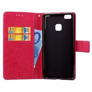 Cloverleaf peněženkové pouzdro na Huawei P9 Lite - rose - 4