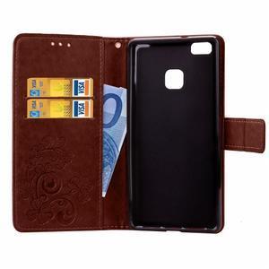 Cloverleaf peněženkové pouzdro na Huawei P9 Lite - hnědé - 4