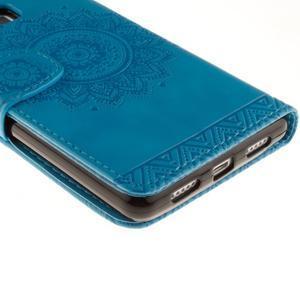 Mandala PU kožené pouzdro na Huawei P9 Lite - modré - 4