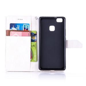 Duocolory PU kožené pouzdro na Huawei P9 Lite - bílé/hnědé - 4