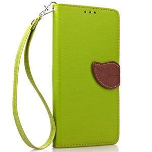 Leaf PU kožené pouzdro na Huawei P9 Lite - zelené - 4