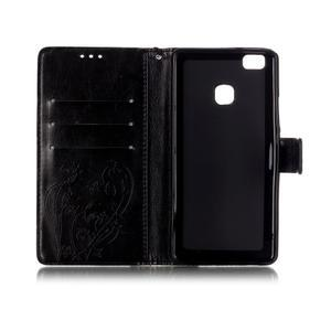 Magicfly knížkové pouzdro na telefon Huawei P9 Lite - černé - 4