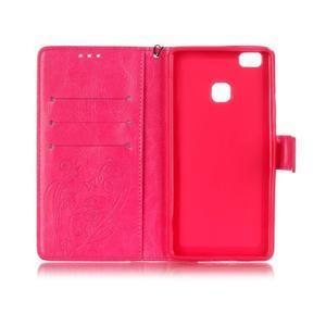 Magicfly knížkové pouzdro na telefon Huawei P9 Lite - rose - 4