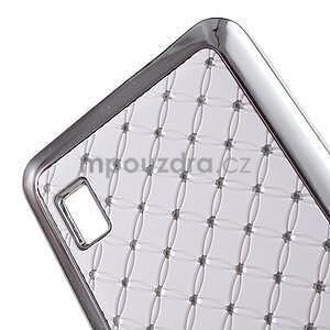 Drahokamový kryt na Huawei Y635 - bílý - 4