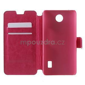 Rose PU kožené pouzdro na Huawei Y635 - 4