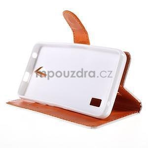 Zapínací peněženkové pouzdro na Huawei Y635 - folk - 4