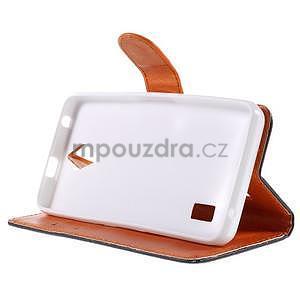 Zapínací peněženkové pouzdro na Huawei Y635 - arabesque - 4