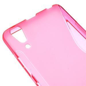 S-line gelový obal na mobil Lenovo A6000 - rose - 4