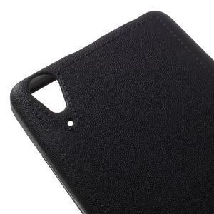 Texturovaný gelový obal na Lenovo A6000 - černý - 4