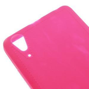 Texturovaný gelový obal na Lenovo A6000 - rose - 4