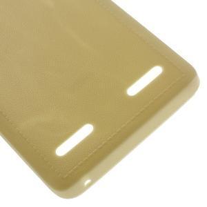 Texturovaný gelový obal na Lenovo A6000 - champagne - 4
