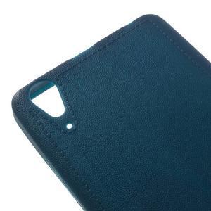 Texturovaný gelový obal na Lenovo A6000 - modrý - 4