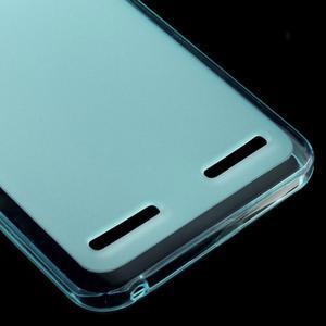 Matný gelový obal na mobil Lenovo Vibe K5 / K5 Plus - modrý - 4
