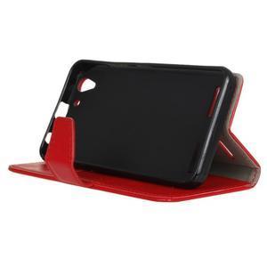 Knížkové PU kožené pouzdro na Lenovo Vibe K5 / K5 Plus - červené - 4