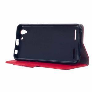 Peněženkové pouzdro na Lenovo Vibe K5 / K5 Plus - červené - 4