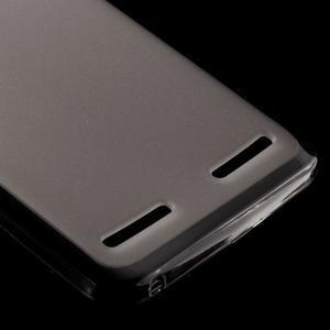 Matný gelový obal na mobil Lenovo Vibe K5 / K5 Plus - šedý - 4