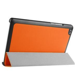 Trifold stavitelné pouzdro na Lenovo Tab 2 A8-50 - oranžové - 4