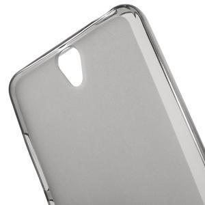 Matný gelový obal na mobil Lenovo Vibe S1 - šedý - 4
