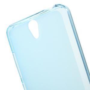 Matný gelový obal na mobil Lenovo Vibe S1 - modrý - 4