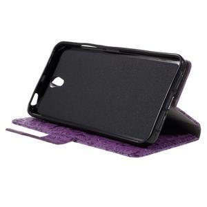 Cartoo peněženkové pouzdro na Lenovo Vibe S1 - fialové - 4