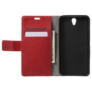 Peněženkové pouzdro na mobil Lenovo Vibe S1 - červené - 4