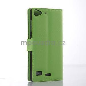 Zelené peněženkové pouzdro Lenovo Vibe X2 - 4