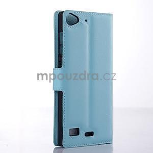 Světle modré peněženkové pouzdro Lenovo Vibe X2 - 4