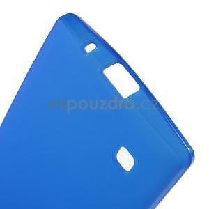 Matný gelový kryt na LG Spirit - modrý - 4