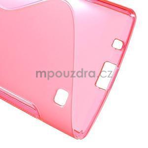 S-line gelový obal na LG Spirit 4G LTE - rose - 4