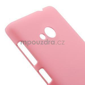 Růžové pogumované plastové pouzdro Microsoft Lumia 535 - 4