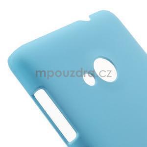 Světle modré pogumované plastové pouzdro Microsoft Lumia 535 - 4