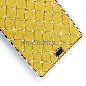 Drahokamový kryt na Microsoft Lumia 535 - žlutý - 4